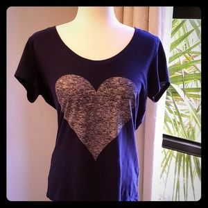 Express Heart Tshirt in vibrant blue